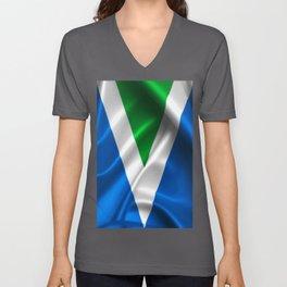 Vegan Flag on soft and shiny clothing Unisex V-Neck