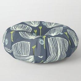 Tulip Garden M+M Navy Black by Friztin Floor Pillow