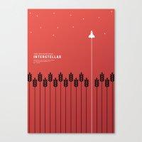 interstellar Canvas Prints featuring Interstellar  by doaly