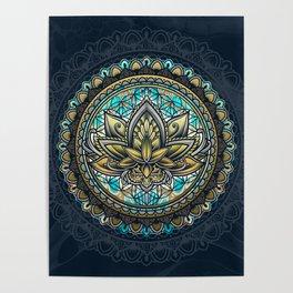 Lotus Mandala - Color Version Poster