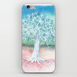 White Tree Illustration Art iPhone Skin