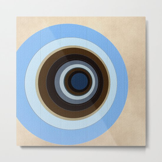 blue and brown circles Metal Print