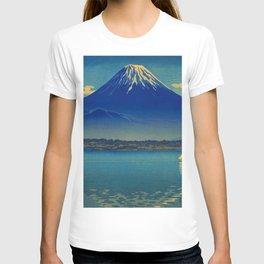 Tsuchiya Koitsu Vintage Japanese Woodblock Print Mount Fuji T-shirt