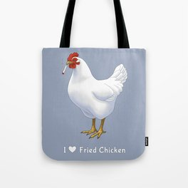 Funny Fried Chicken Pot Smoking White Hen Tote Bag