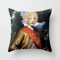 lamb Throw Pillows featuring Lamb by DIVIDUS DESIGN STUDIO