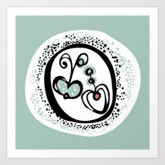 Apple Heart Art Print