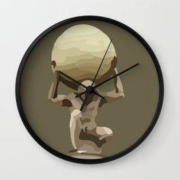 Man with Big Ball Illustration brown Wall Clock