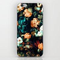 vintage floral iPhone & iPod Skins featuring Vintage Floral by Burcu Korkmazyurek