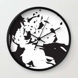 addicted to black & white no.2 Wall Clock