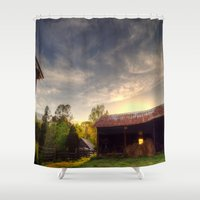 tennessee Shower Curtains featuring Tennessee Sunset by Terbo