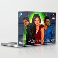 vampire diaries Laptop & iPad Skins featuring The Vampire Diaries by Don Kuing