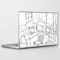 kitchen Laptop & iPad Skins featuring Kitchen by Frances Roughton