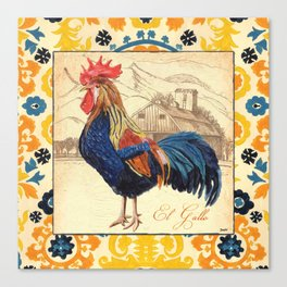 Suzani Rooster 1 Canvas Print