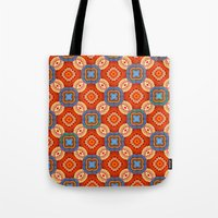 persian Tote Bags featuring Persian Parlor by Peter Gross