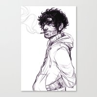 grantaire Canvas Prints featuring Grantaire by batcii