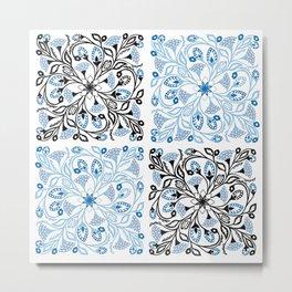 Floral Quarters Metal Print