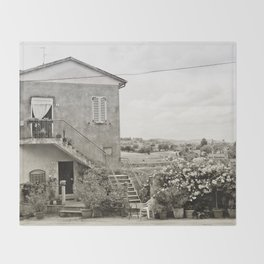 Living in the Italian countryside Throw Blanket