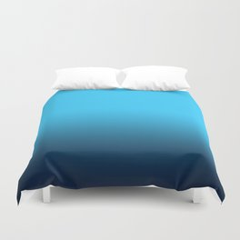 Simply fresh teal blue color gradient - Mix and Match with Simplicity of Life Duvet Cover