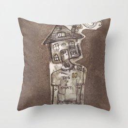 Saturday Morning Cartoons 1: Homebody Throw Pillow