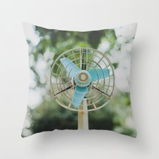 Vintage Fan Throw Pillow