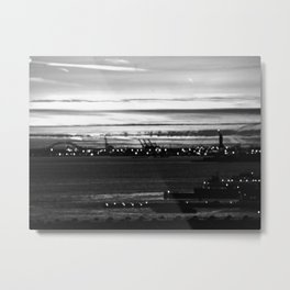 Vague Memories of New York [Black & White] Metal Print
