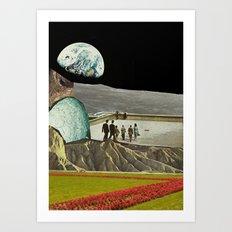 Plains by Zabu Stewart Art Print