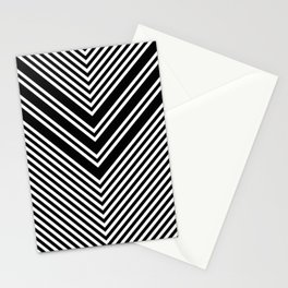 Back and White Lines Minimal Pattern No.1 Stationery Cards