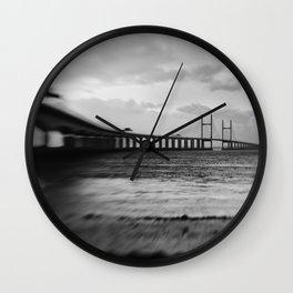 severn Crossing Lensbaby 02 - Severn Beach Wall Clock