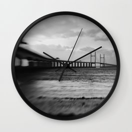 severn Crossing Lensbaby 02 - Severn Beach Wall Clock