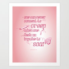 Be who you are... - pink Art Print