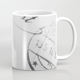 Old letter with stamp Coffee Mug