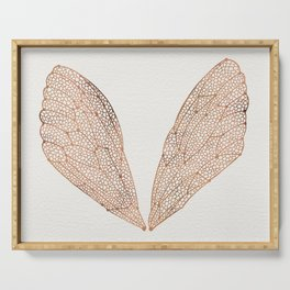 Cicada Wings in Rose Gold Serving Tray