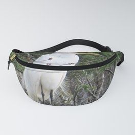 Great White Egret (2 of 4)-Side View Fanny Pack