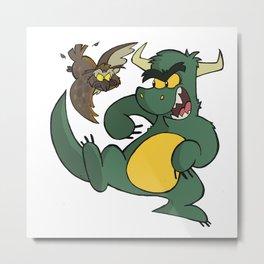 Avery Vs Dragon Metal Print