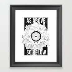 As Above, So Below - Zodiac Illustration Framed Art Print