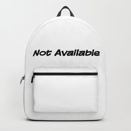Not Available Backpack