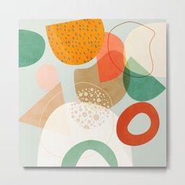 mid century modern abstract design III Metal Print