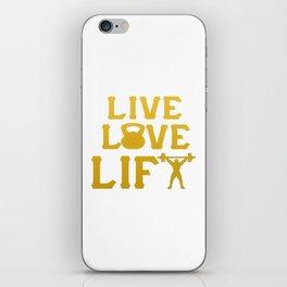 LIVE - LOVE - LIFT iPhone Skin