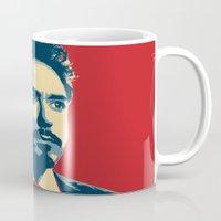tony stark Mugs featuring Tony Stark by Cadies Graphic