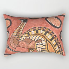 Emu - Aboriginal Art Painting Rectangular Pillow