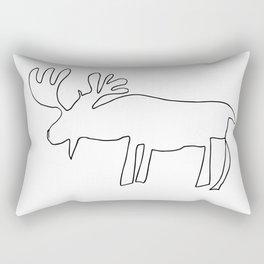 Line Moose Rectangular Pillow