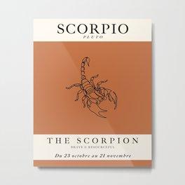 Minimalist Scorpio Metal Print