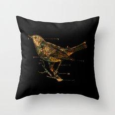 Migration - Vintage Map Wanderlust Bird Throw Pillow