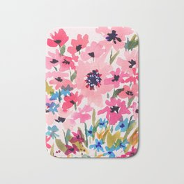 Peachy Wildflowers Bath Mat