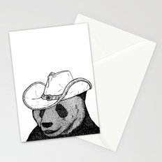 Cowboy Panda Stationery Cards