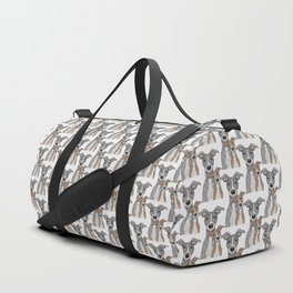 Blue & Fawn Duffle Bag