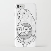 hats iPhone & iPod Cases featuring On how baby bears are often used as winter hats by Michael C. Hsiung