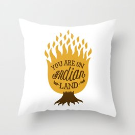 Take Off Your Shoes Throw Pillow