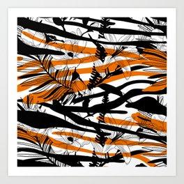 Floral Tiger Animal Print Art Print