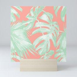 Island Love Coral Pink + Light Green Mini Art Print